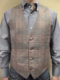 "【送料無料】 ROYAL HEM Silk/Linen/Virgin Wool West Coat(Vest) ""SALFORD"""