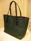 "【送料無料】TUSTING Embossed Leather ""Warwick"" Tote /グリーン(Blood & Thunder別注)"