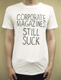 "WORNFREE  ""CORPORATE MAGAZINES""Tシャツ"
