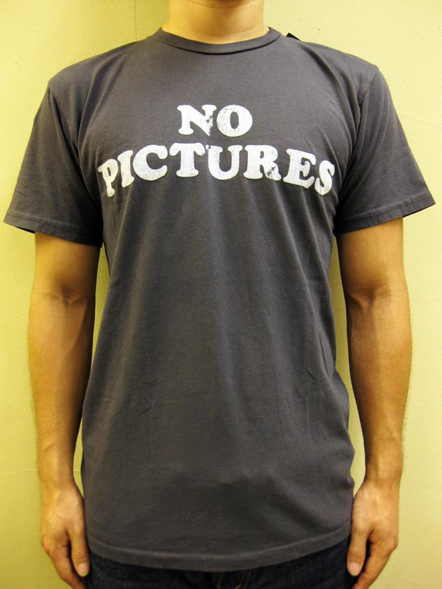"""WORNFREE  """"NO PICTURES""""Tシャツ"""
