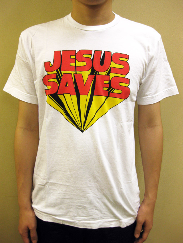 "WORNFREE  ""JESUS SAVES""Tシャツ"