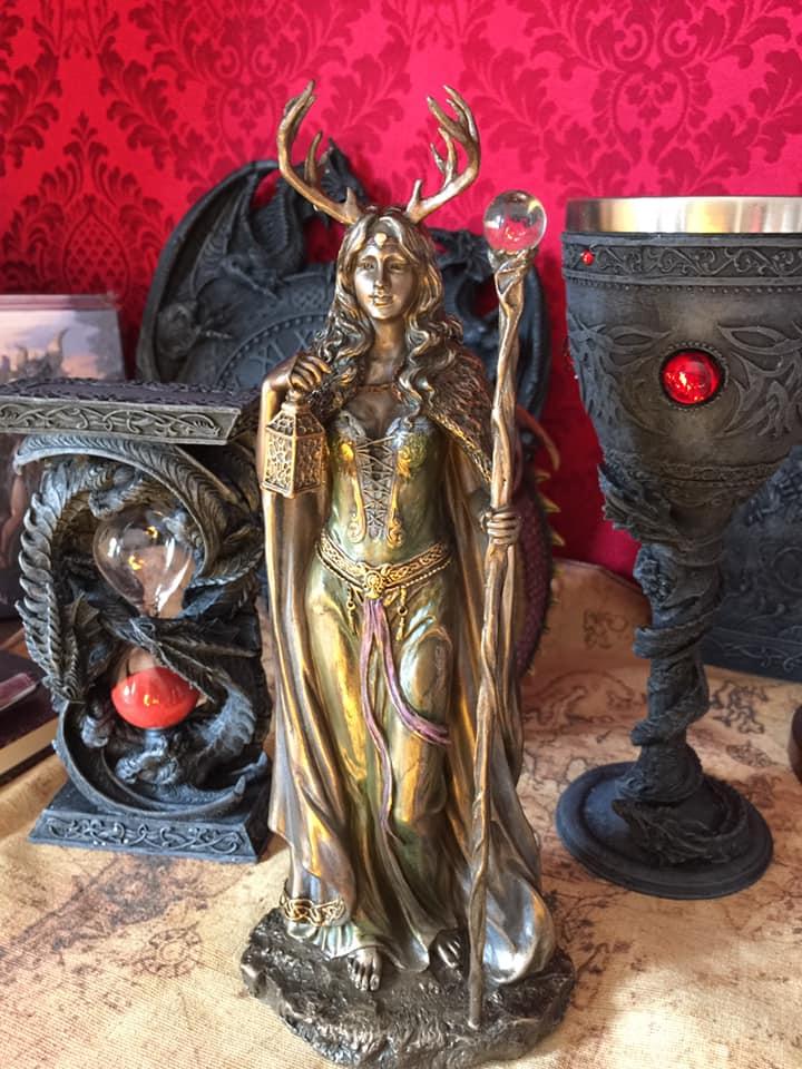 森の番人 女神像 ★Keeper of The Forest 28cm Wiccan & Witchcraft