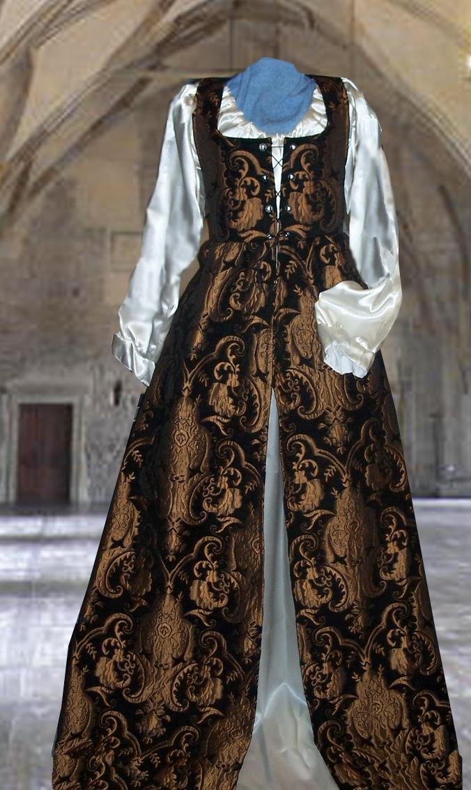 ゴシックドレス 中世貴族ドレス エンパイアドレス ルネッサンス