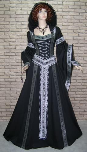魔女ドレス☆中世★ゴシック ブロケードローブ 黒