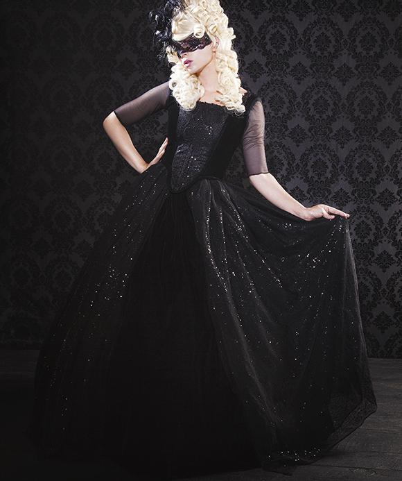 ゴシックドレス・ファンタジープリンセスドレス Black Gothic Sparkle Marie