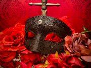 ヴェネチアンマスク ・仮面・Eye Mask Black2