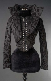 エリザベスカラーヴァンパイアクイーンジャケット☆中世ダークな雰囲気ダークゴージャスなジャケット/BROCADE EVIL