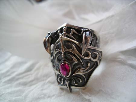 Bloody Rose オリジナルリング✙ナイトリング Knight Ring  いぶし仕上げ