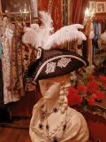 Bloody Roseオリジナル☆トリコーン帽子・ゴージャスなオーストリッチ羽付き帽子 マリーアントワネット