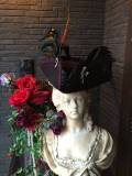 Bloody Roseオリジナル★トリコーン帽子★羽付き帽子 仮面舞踏 Boucaner