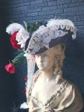 Bloody Roseオリジナル★トリコーン帽子★羽付き帽子 仮面舞踏会 マリーのお茶会