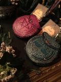 ファンタジーコインケース Pentagram&tree Leather Purse  11cm