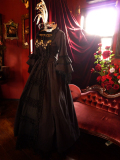 Fanplusfriend ゴシックドレス 中世貴族ドレス 黒