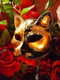 べネチアンマスク仮面 ゴシック Key cat gold leaf