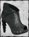 Too Fast◆ヒールがスカル!THICK HEADED BOOT - DAMASK