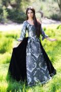 ゴシックドレス 中世貴族ドレス Charcoal Renaissance Swann Dress