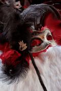 べネチアンマスク仮面 ゴシック 棒付きマスカレードマスク