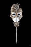 ヴェネチアンマスク ・仮面・Calypso Stick 棒付き仮面