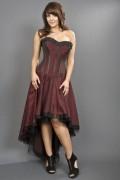 コルセット・ゴシック&ビクトリアン Monroe hi-low burlesque corset dress