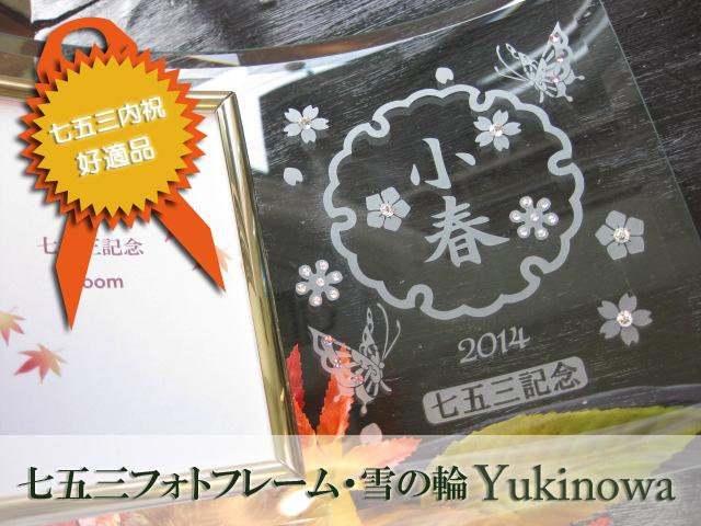 女の子用・七五三フォトフレーム・雪の輪Yukinowa