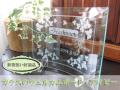 新築祝い・新居祝い・お引越し祝いに最適なガラスのウェルカムボード・アイビー