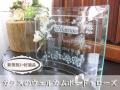 新築祝い・新居祝い・お引越し祝いに最適なガラスのウェルカムボード・ローズ