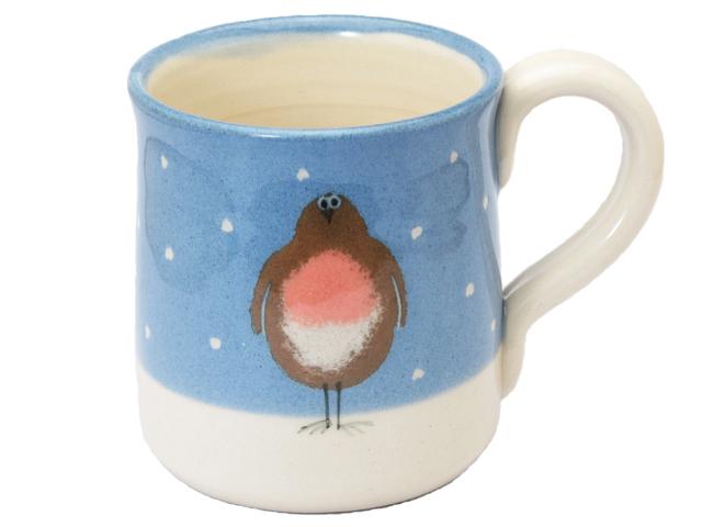 雪のロビン マグカップ