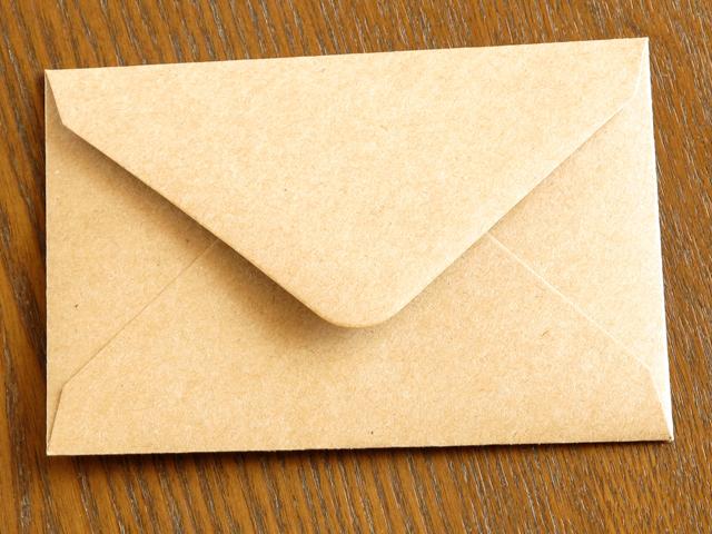 ミニカード 封筒