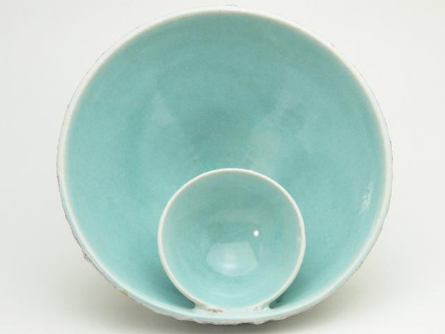 小皿付きボウル(溶岩釉)