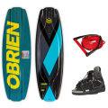 ウェイクボード3点セット・OBRIEN・CLUTCH143ボード+CLUTCHブーツ(26~29cm)+ハンドル&ライン