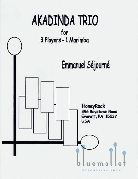 Sejourne , Emmanuel - Akadinda Trio for 3 Players - 1 Marimba (スコア・パート譜セット) (特価品)