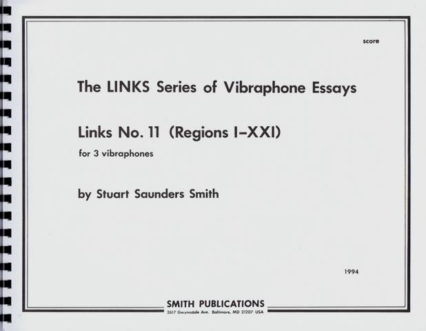 Smith , Stuart Saunders - Links No.11 for 3 Vibraphones (スコアのみ) (特価品)