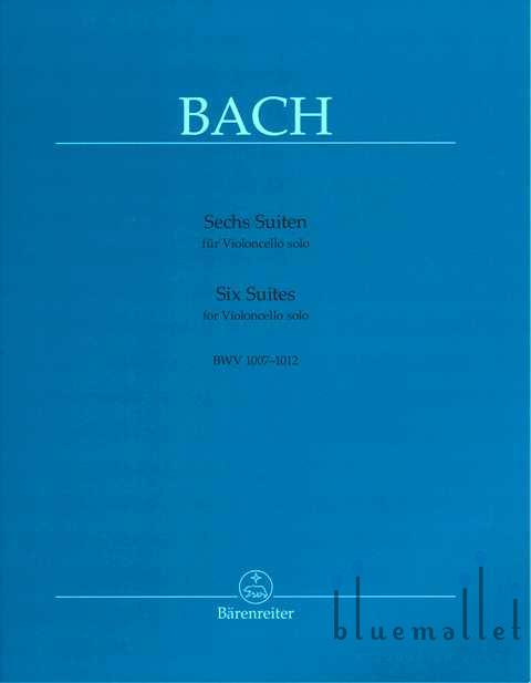Bach , Johann Sebastian - Sechs Suiten fur Violoncello Solo (pub. by Barenreiter) (ed. by August Wenzinger)