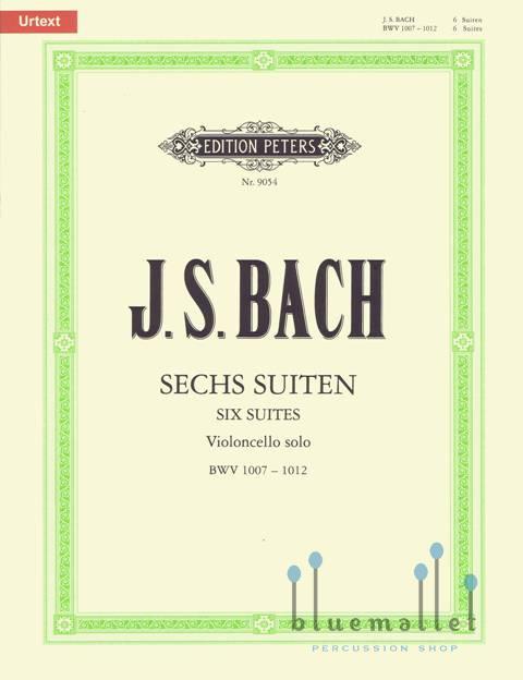 Bach , Johann Sebastian - Sechs Suiten fur Violoncello solo (pub. by Peters) (ed. by Paul Rubardt) (特価品)