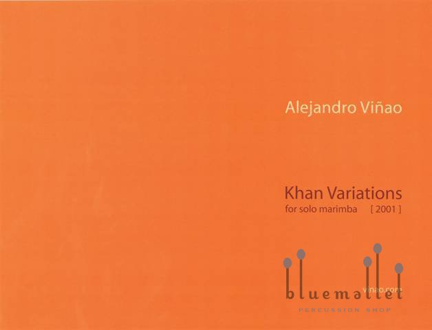 Vinao , Alejandro - Khan Variations  for Solo Marimba (特価品)