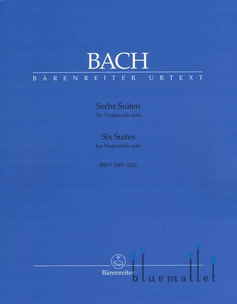 Bach , Johann Sebastian - Sechs Suiten fur Violoncello Solo (pub. by Barenreiter) (ed. by Andrew Talle)