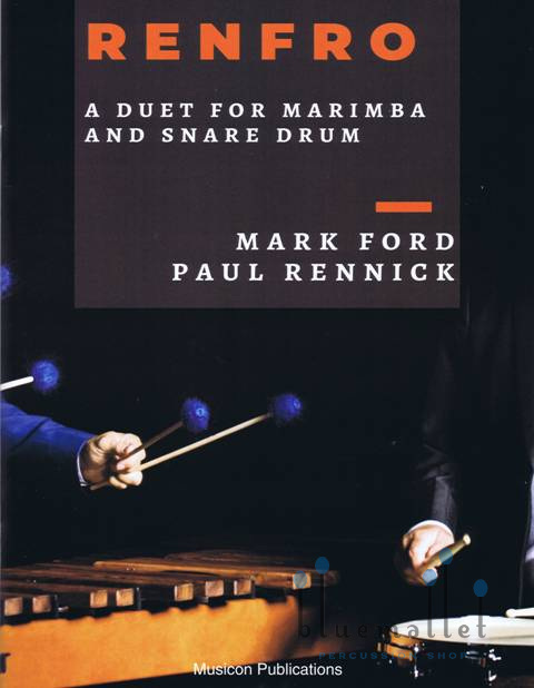 Ford , Mark - Renfro a duet for Marimba and Snare drum (スコア・パート譜セット)