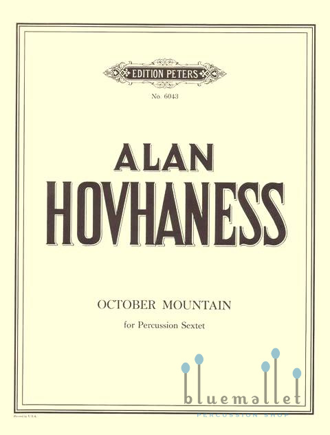 Hovhaness , Alan - October Mountain for Percussion Sextet (スコア・パート譜セット)