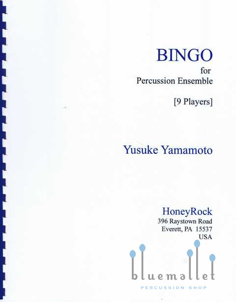 Yamamoto , Yusuke - Bingo for Percussion Ensemble (スコア・パート譜セット) (特価品)