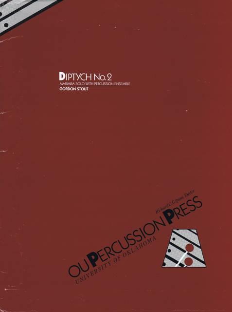 Stout , Gordon - Diptych No.2 Marimba Solo and Percussion Ensemble (スコア・パート譜セット)(特価品)