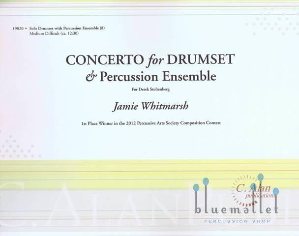 Whitmarsh , Jamie - Concerto For Drumset & Percussion Ensemble (スコア・パート譜セット)