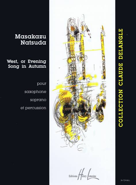 Natsuda , Masakazu - West or Evening Song in Autumn pour Saxophone Soprano et Percussion (スコアのみ)