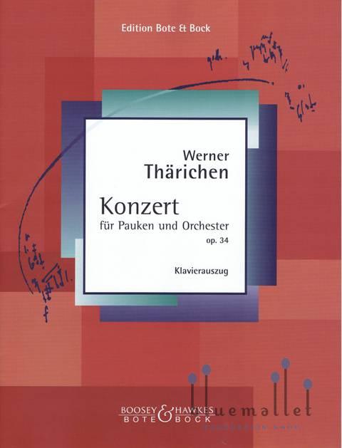 Tharichen , Werner - Konzert fur Pauken (ピアノ伴奏版 / スコア・パート譜セット)