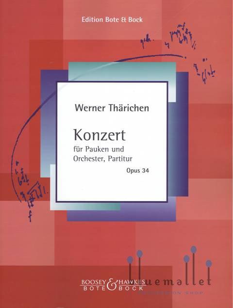 Tharichen , Werner - Konzert fur Pauken (オーケストラ伴奏版 / スコアのみ)