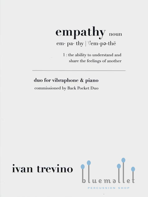 Trevino , Ivan - Empathy Duo for Vibraphone & Piano (スコア・パート譜セット) (特価品)