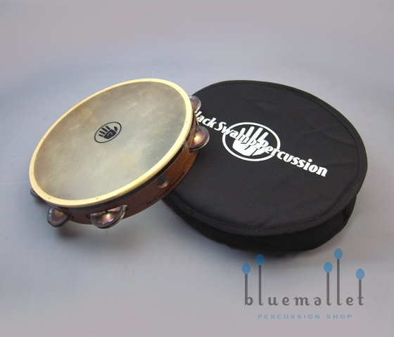 "Black Swamp Tambourine 10"" Single Row Chromium 25 TS1"