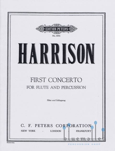 Harrison , Lou - First Concerto for Flute & Pecussion (スコアのみ3部セット)