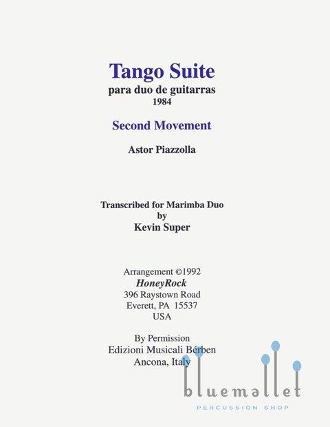 Piazzolla , Astor - Tango Suite Movement II  para Duo de Guitarras (スコア・パート譜セット) (特価品)