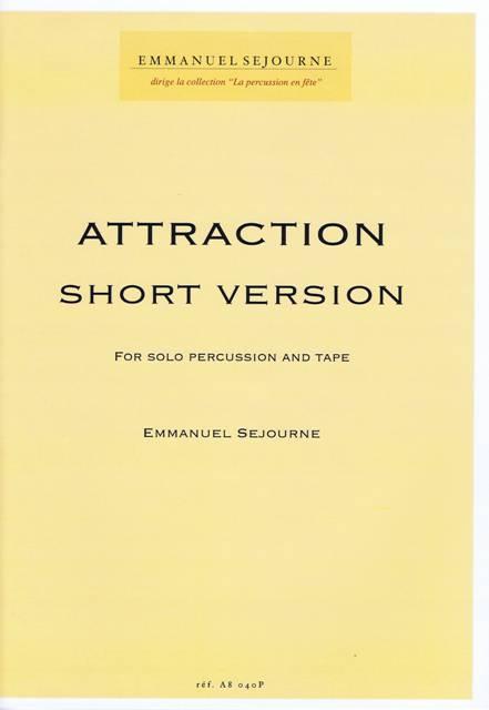 Sejourne , Emmanuel - Attraction Short Version (伴奏CD付) (特価品)