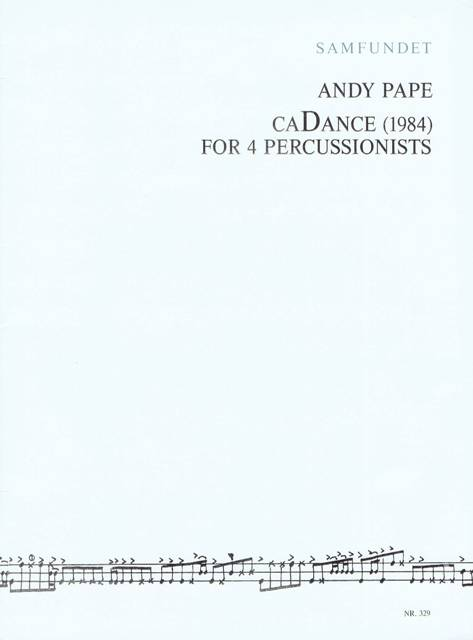Pape , Andy - CaDance for 4 Percussionists (特価品)
